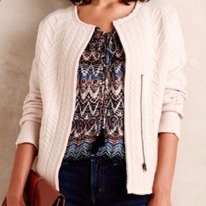 Anthropologie knitted and knitted cardigan M
